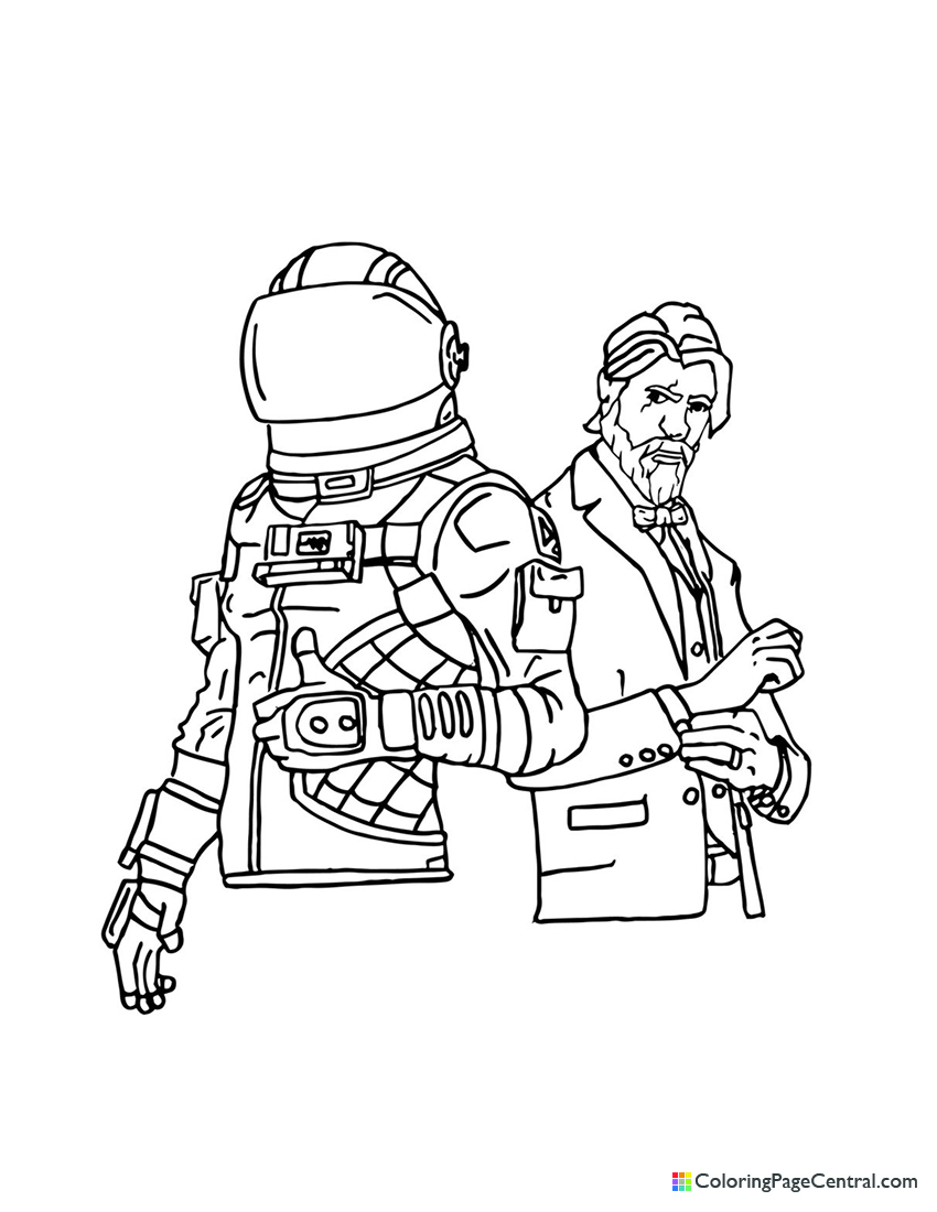 Fortnite - Dark Voyager and The Reaper Coloring Page ...