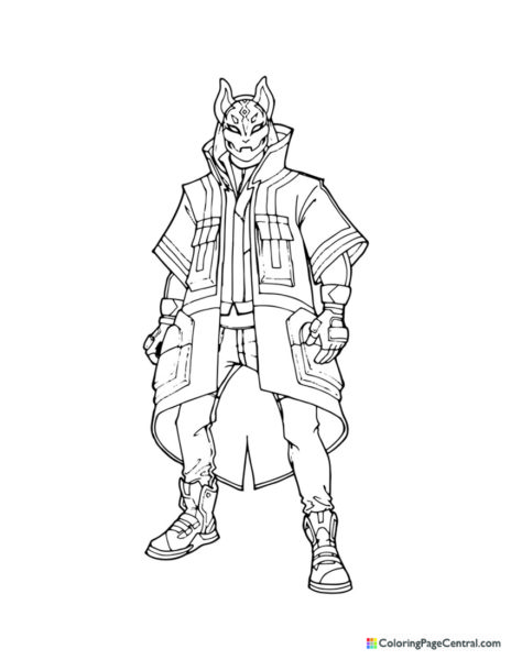 Fortnite - Drift 01 Coloring Page