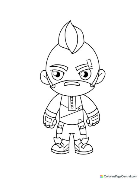 Fortnite – Drift 02 Chibi Coloring Page