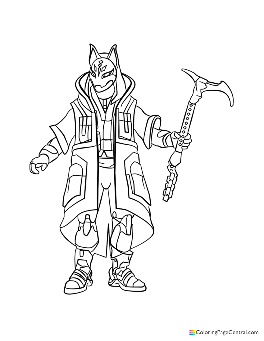 Fortnite - Drift 02 Coloring Page
