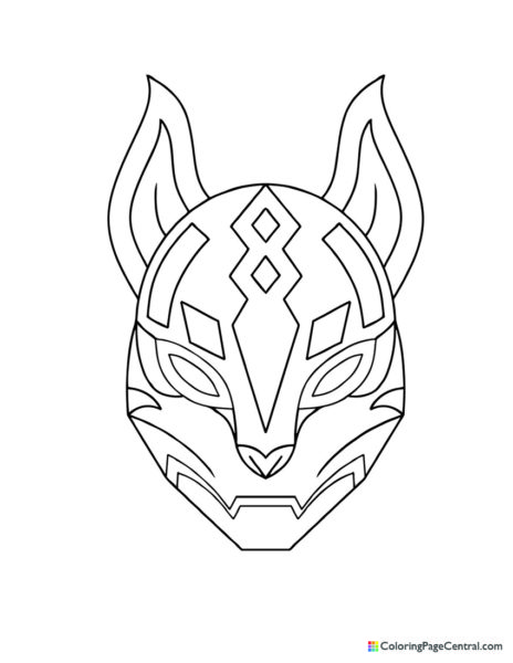 Fortnite – Drift Kitsune Mask Coloring Page