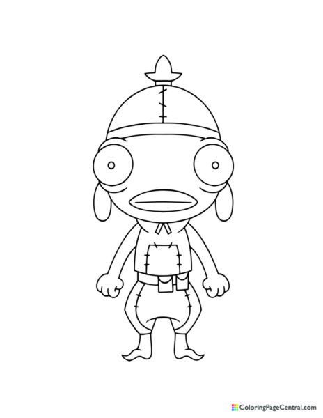 Fortnite – Fishstick Chibi Coloring Page