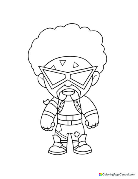 Fortnite – Funk Ops Chibi Coloring Page