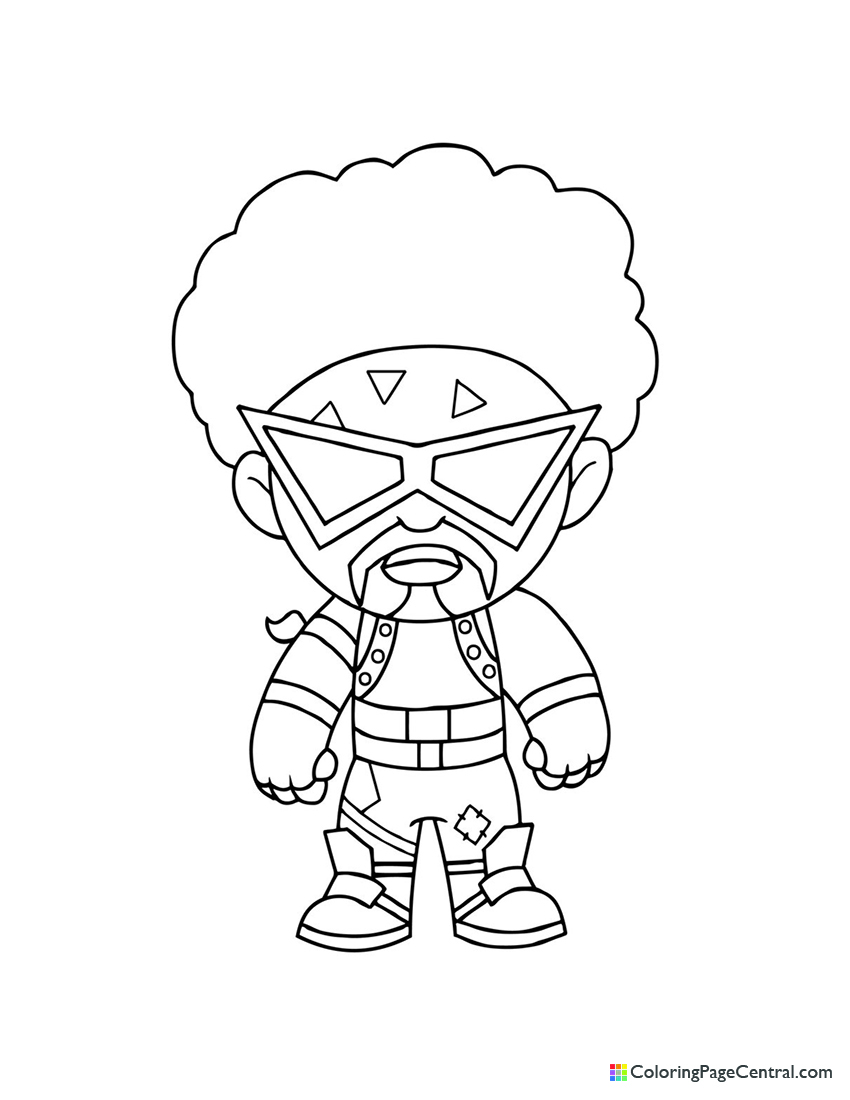 Fortnite - Funk Ops Chibi Coloring Page
