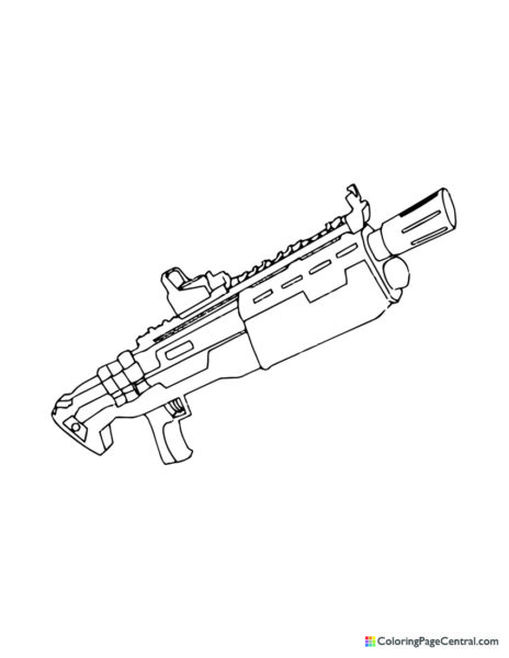 Fortnite – Heavy Shotgun Coloring Page