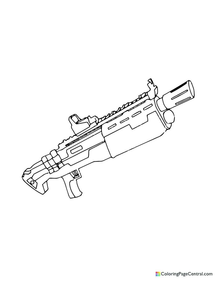 Fortnite - Heavy Shotgun Coloring Page