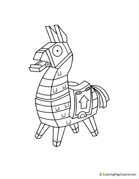 Fortnite – Llama 01 Coloring Page