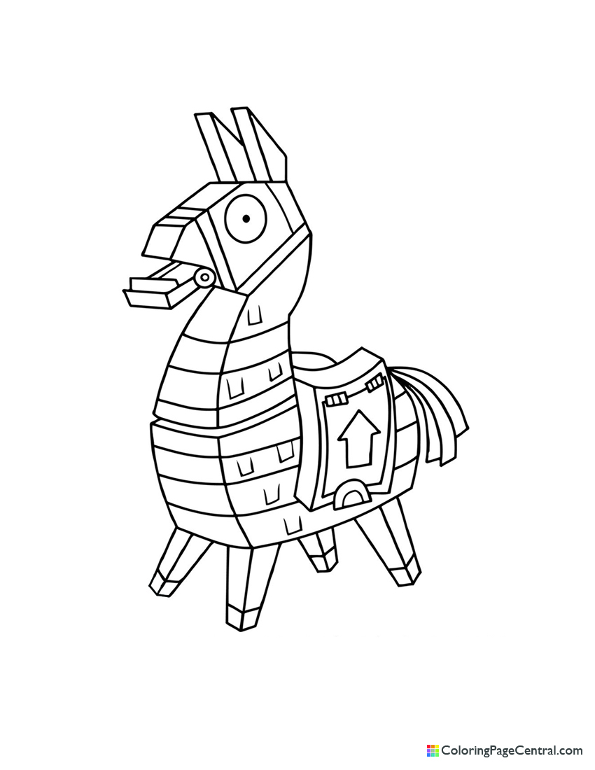 Fortnite - Llama 01 Coloring Page