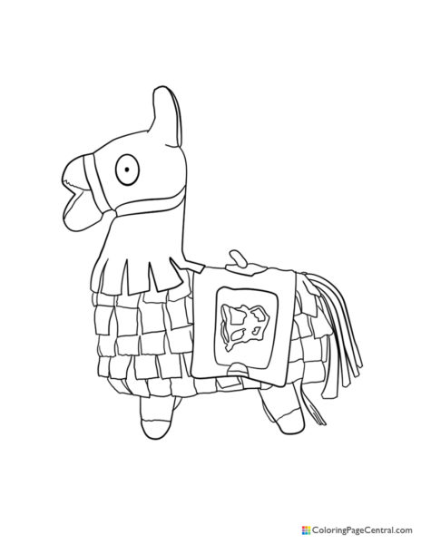Fortnite – Llama 02 Coloring Page