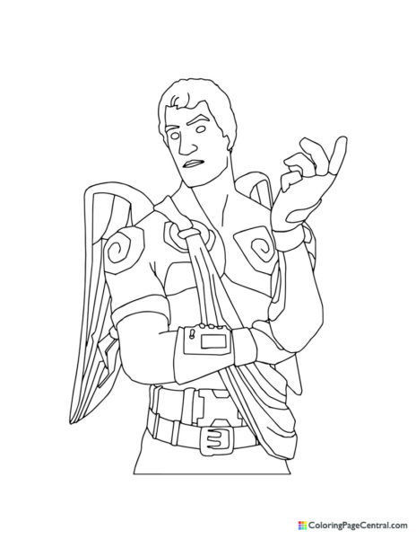 Fortnite – Love Ranger Coloring Page