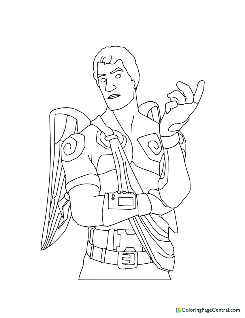Fortnite - Love Ranger Coloring Page