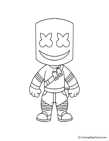 Fortnite - Marshmello Chibi Coloring Page