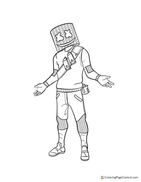 Fortnite – Marshmello Coloring Page