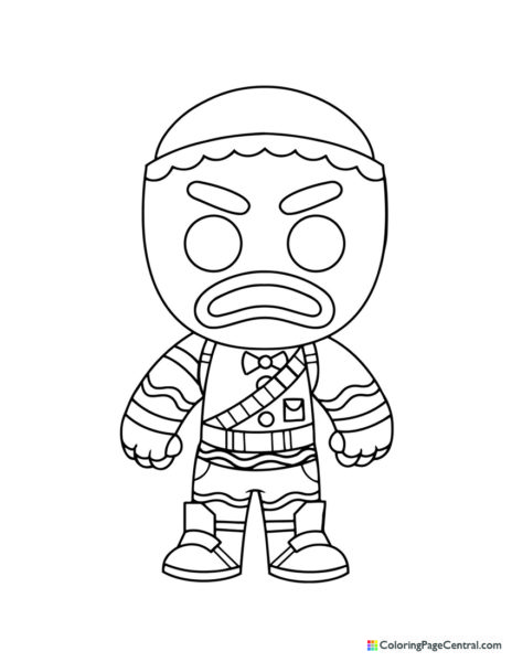 Fortnite - Merry Marauder Chibi Coloring Page Coloring Page Central -  Part 22
