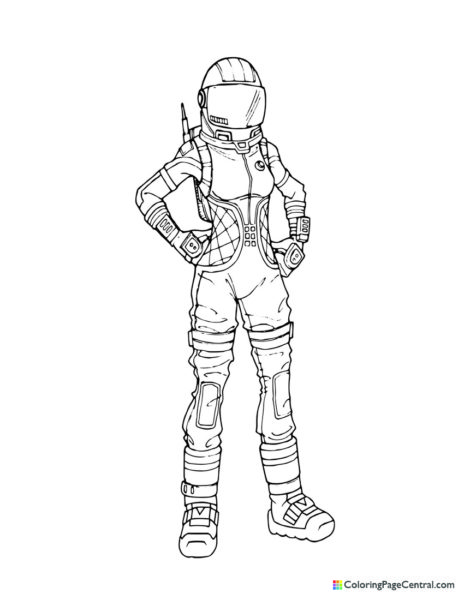 Fortnite - Moonwalker Coloring Page