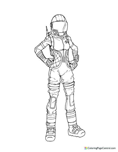 Fortnite – Moonwalker Coloring Page
