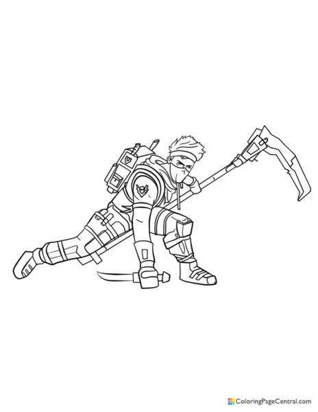 Fortnite – Ninja Coloring Page
