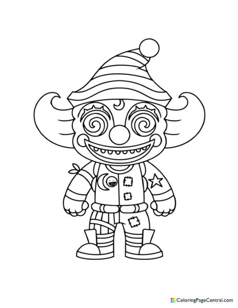 Fortnite – Nite Nite Chibi Coloring Page