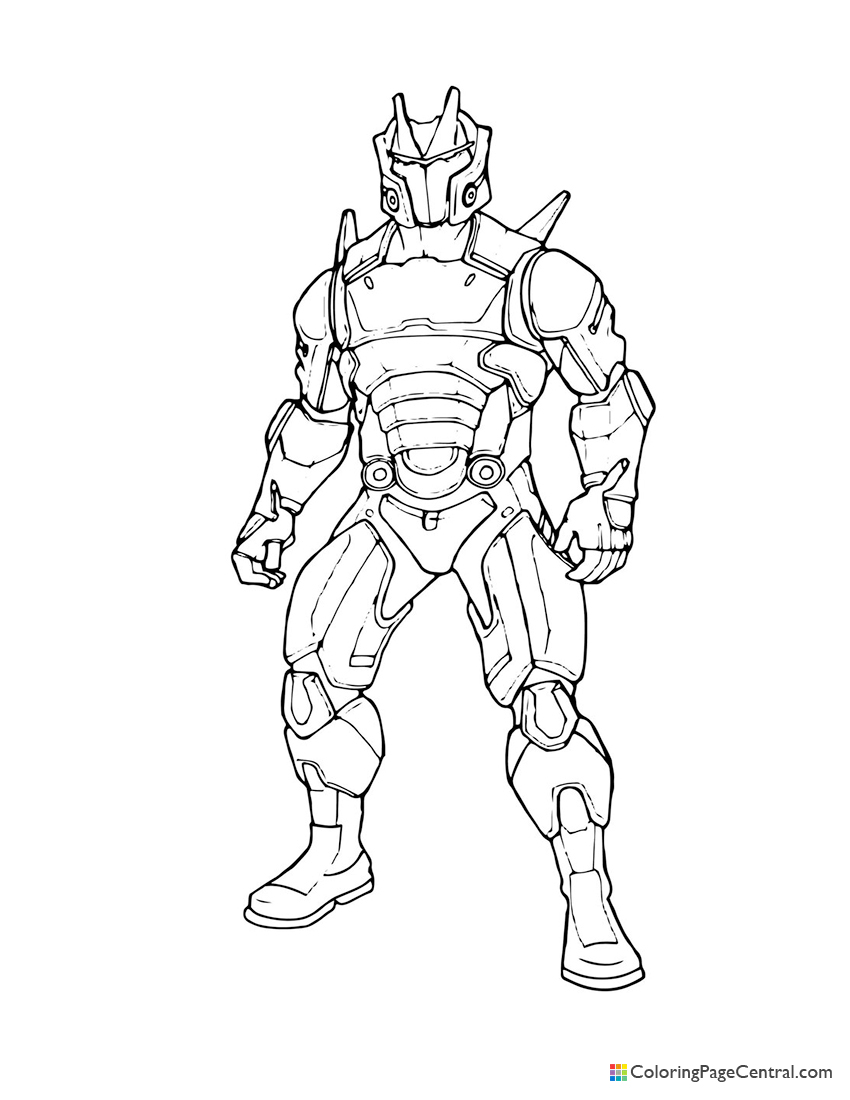 Fortnite - Omega 01 Coloring Page