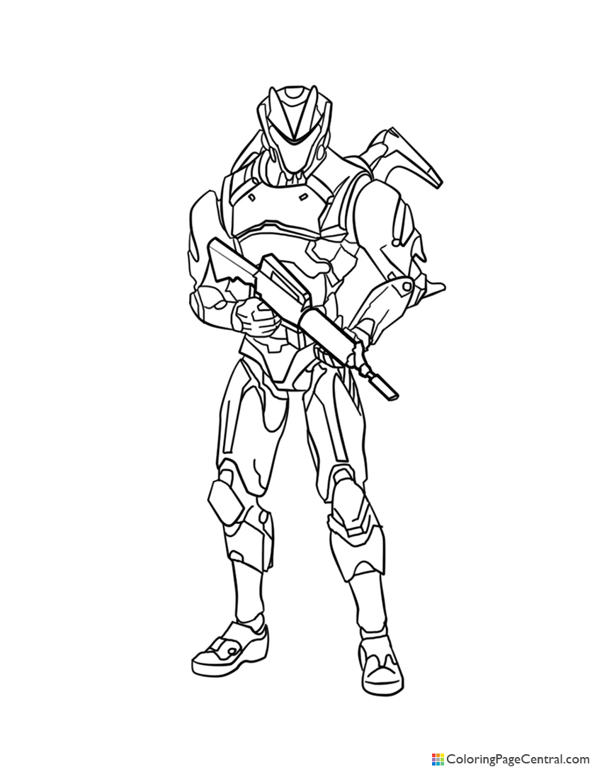 Fortnite - Omega 02 Coloring Page