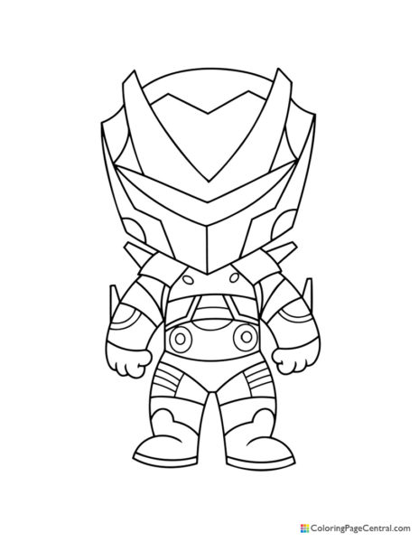 Fortnite – Omega Chibi Coloring Page