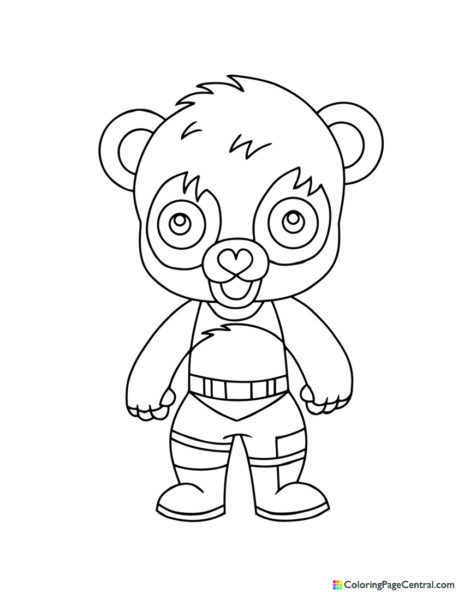 Fortnite – Panda Team Leader Chibi Coloring Page