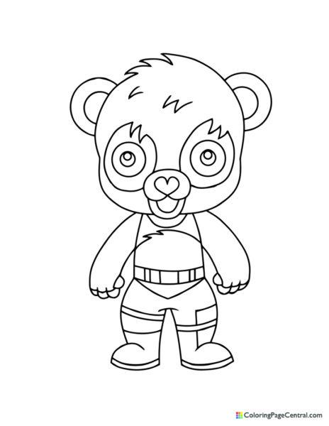 Fortnite - Panda Team Leader Chibi Coloring Page