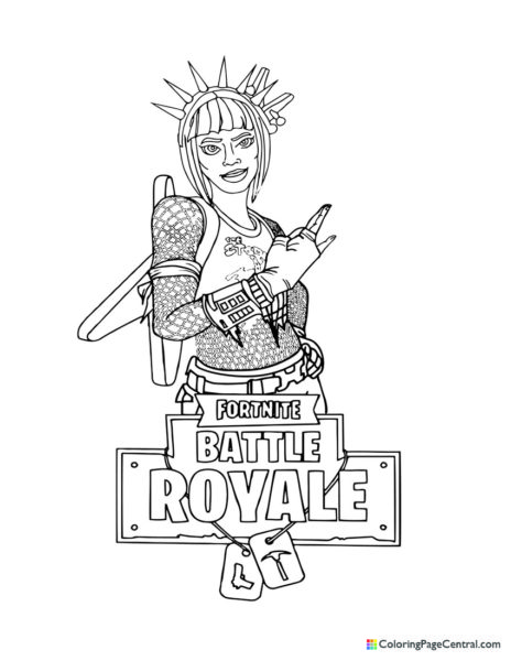 Fortnite – Power Chord Coloring Page