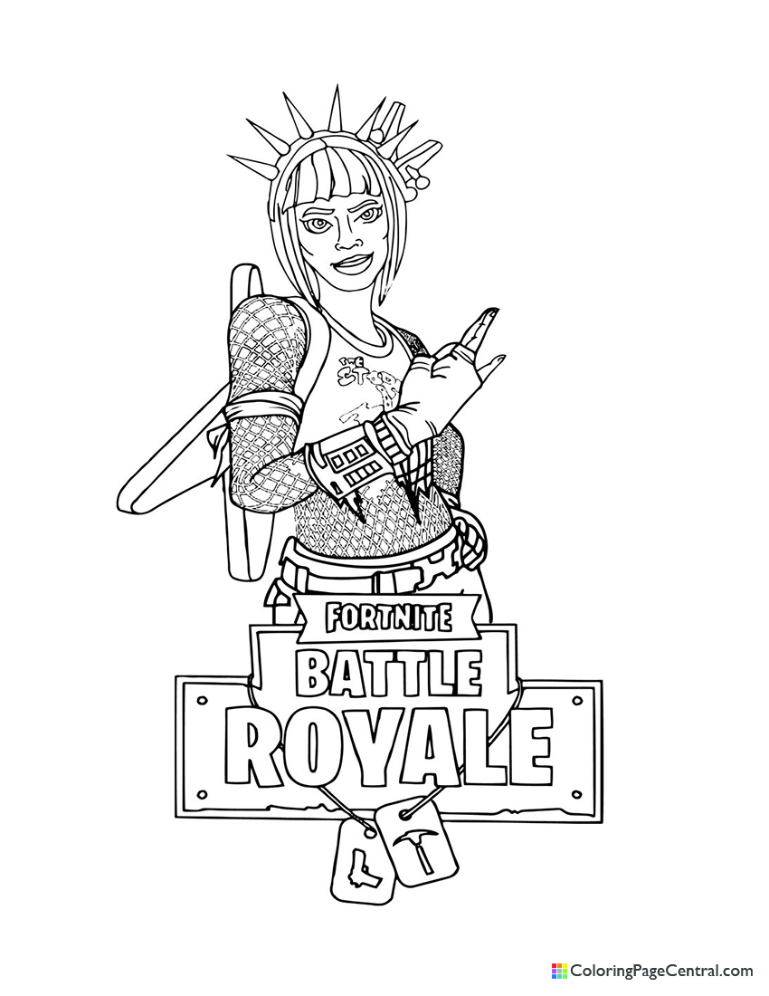 Fortnite Power Chord Coloring Page Coloring Page Central