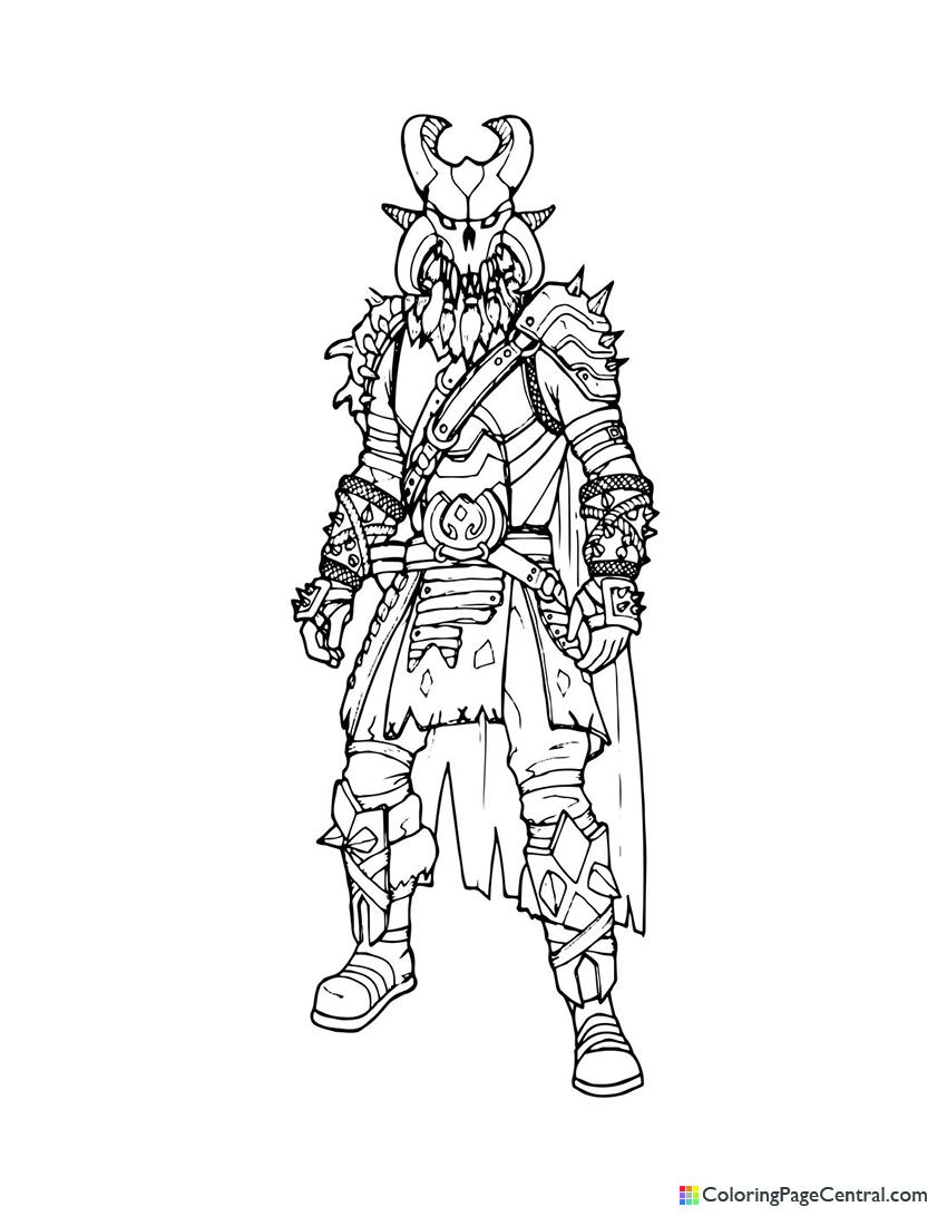 Fortnite - Ragnarok Coloring Page