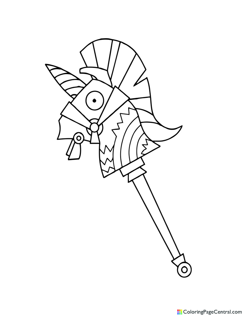 Fortnite - Rainbow Smash Pickaxe 01 Coloring Page