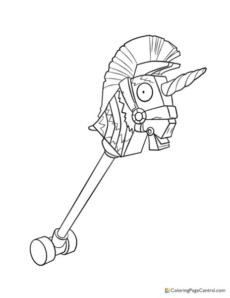 Fortnite – Rainbow Smash Pickaxe 02 Coloring Page