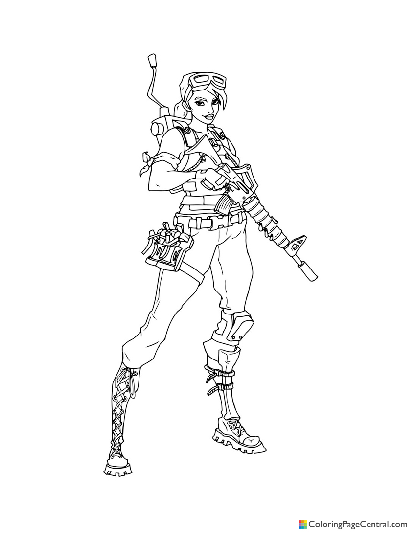 Fortnite - Ramirez 03 Coloring Page | Coloring Page Central