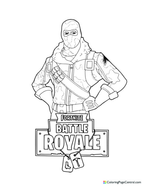 Fortnite – Raptor 01 Coloring Page