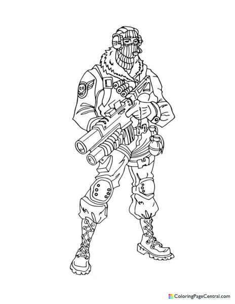 Fortnite – Raptor 02 Coloring Page