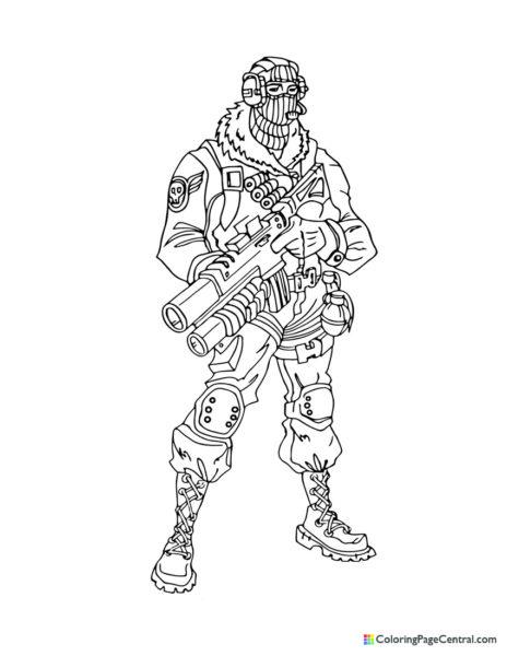 Fortnite - Raptor 02 Coloring Page