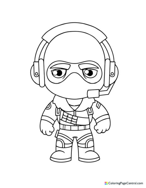 Fortnite – Raptor Chibi Coloring Page