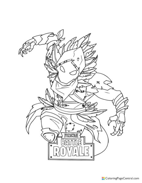 Fortnite - Raven 02 Flying Coloring Page