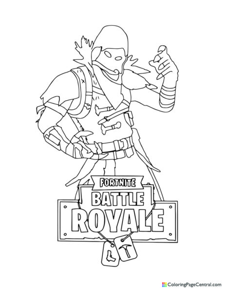 Fortnite - Raven 03 Coloring Page