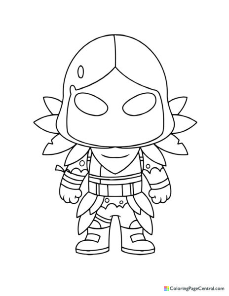 Fortnite – Raven Chibi Coloring Page