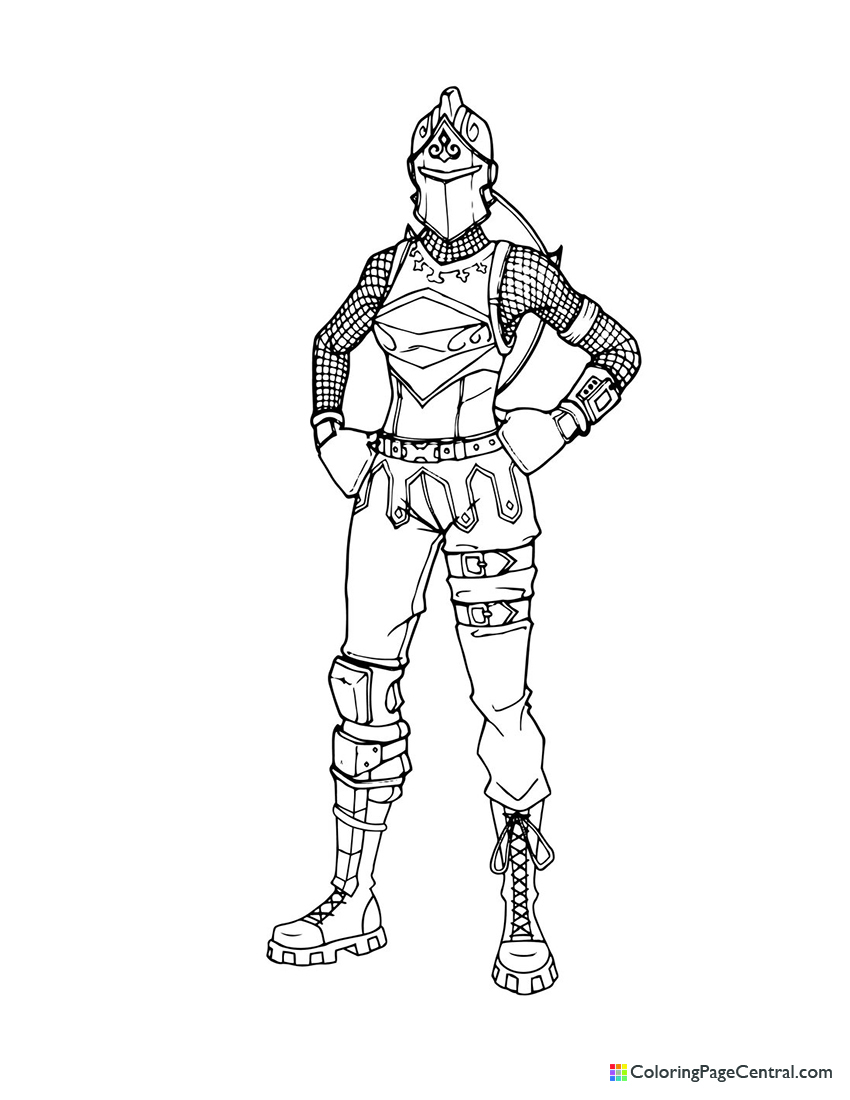 Fortnite - Red Knight 01 Coloring Page