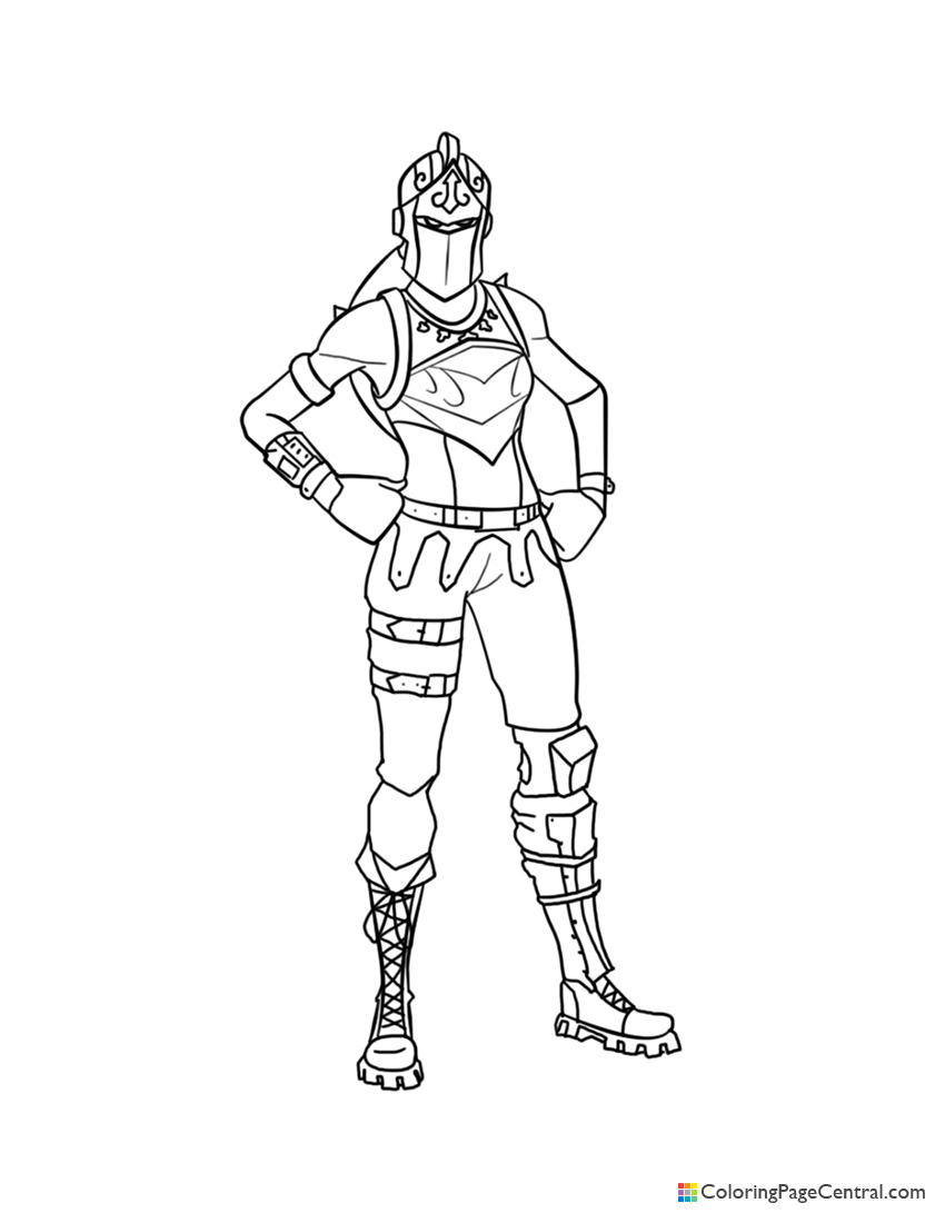 Fortnite - Red Knight 02 Coloring Page