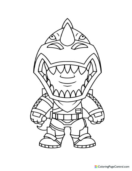 Fortnite – Rex Chibi Coloring Page