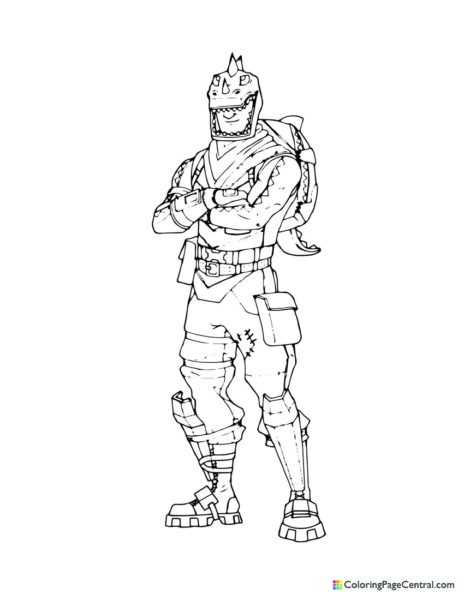 Fortnite – Rex Coloring Page