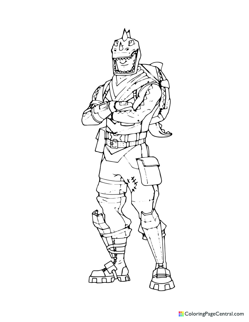Fortnite - Rex Coloring Page