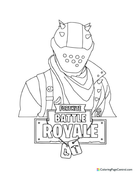 Fortnite – Rust Lord 01 Coloring Page