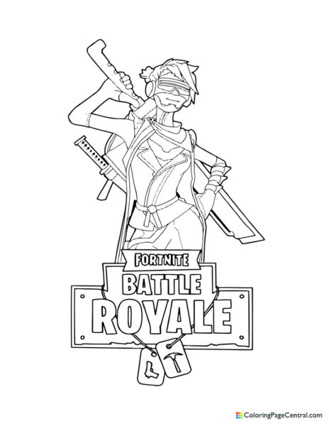 Fortnite – Save the World Female Ninja Coloring Page