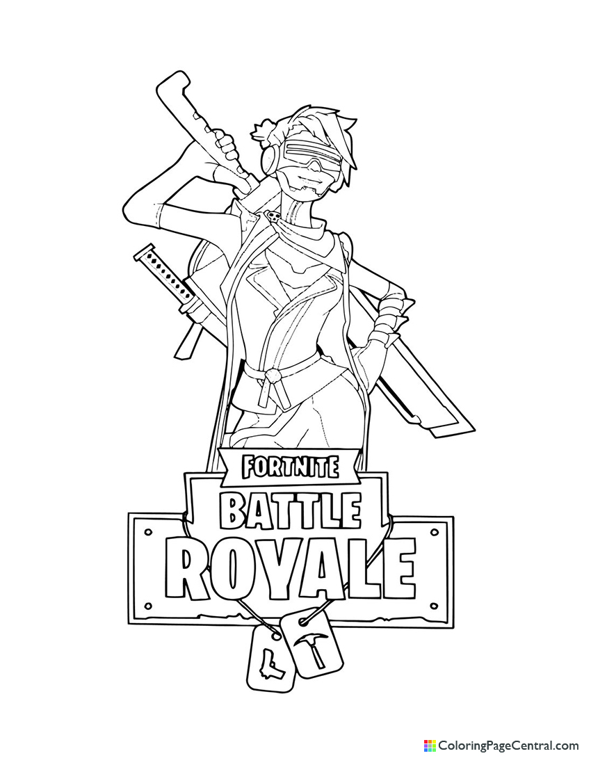 Fortnite - Save the World Female Ninja Coloring Page