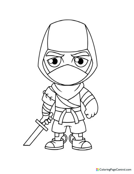 Fortnite - Save the World Ninja Chibi Coloring Page