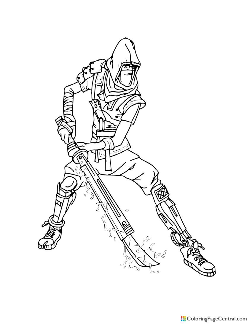 Fortnite - Save the World Ninja Coloring Page